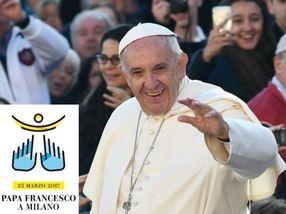 Papa Francesco in visita a Milano. In mostra immagini e tweet.